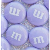 'Purple Glittery M&Ms' iPhone Case/Skin by phantastique