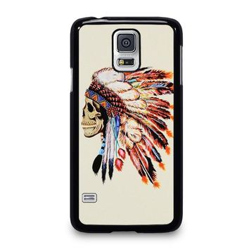 INDIAN FEATHER SKULL Samsung Galaxy S5 Case Cover