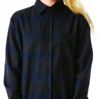 UNIF Blue Collar Button Up