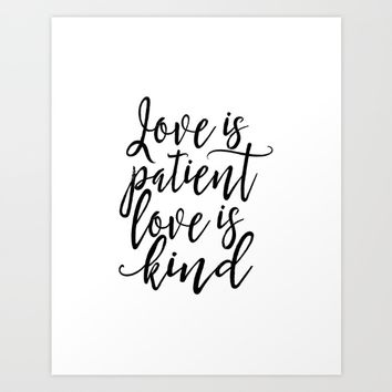 Love Is Kind Quote Amazing Best Love Is Patient Love Is Kind Art Products On Wanelo