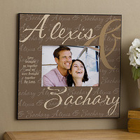 Personalized 5 x 7 Picture Frames - Love Brought Us Together