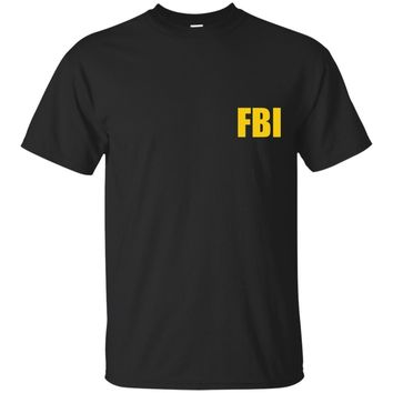FBI Agent Funny Halloween Costume Front Back Tee Shirt