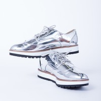 Shiny Metallic Oxfords