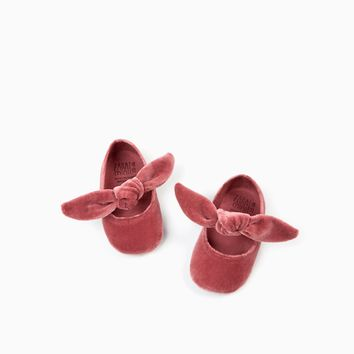FABRIC BALLERINAS WITH BOW