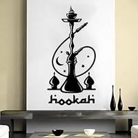 Hookah Wall Decal Relax Arabic Cafe Wall Decals Shisha Smoke Smoking Vinyl Stickers Home Decor Bedroom Design Interior NV34