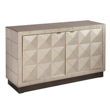 Two Door Silver Accent Chest | Overstock.com Shopping - The Best Deals on Coffee, Sofa & End Tables