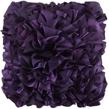 Flounce Pillow - Purple