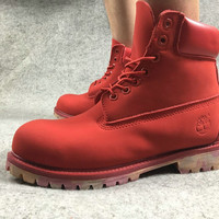 """Timberland"" Timberland boots leather men's shoes day Martin mulan female boots kick not bad work boots"