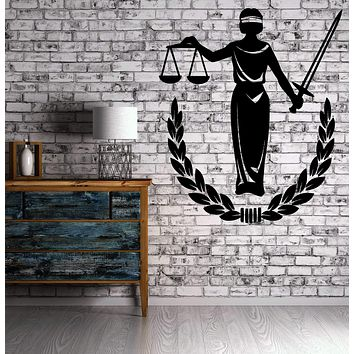 Wall Vinyl Decal Mythology Goddess Justice Stickers Ancient Greek Titanides Wife of Zeus Unique Gift (n008)