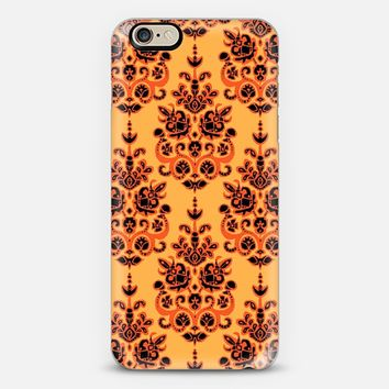 Halloween gold damask ikat iPhone 6 case by Sharon Turner   Casetify
