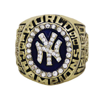 2014 Fashion Crystal Jewelry Sport Jewelry 1998 NY Championship Ring Custom Big Size 11,Gold Pl
