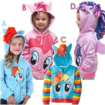 New Christmas costume for kid Girl Hoodie With Wings Cartoon Jacket Sweatshirt For Girls Spring Autumn Coat Children Clothing