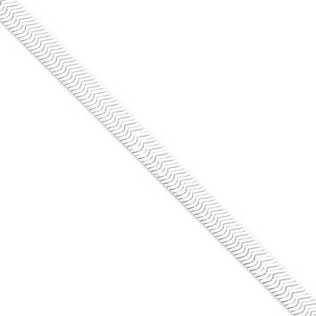 Sterling Silver 8mm Magic Herringbone Chain Bracelet