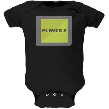 DCCKU3R Halloween Old School Gamer Player 2 Soft Baby One Piece