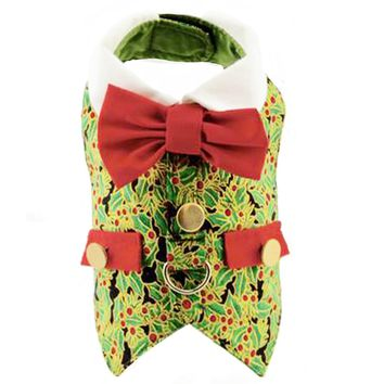 Holly Christmas Holiday Dog Harness Vest - CLOSEOUT!