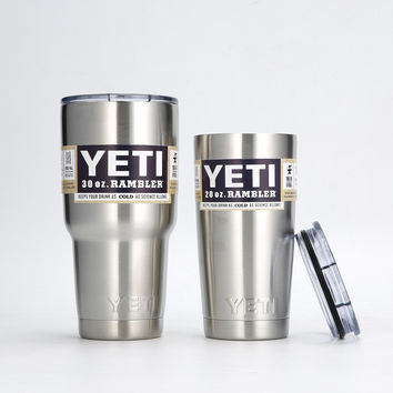 Yeti Cooler 30OZ High Quality Stainless Steel yeti tumbler 20Oz Rambler Travel Mug Coffee Beer Cups And Mugs