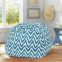 Dark Pool Tie Dye Chevron Beanbag