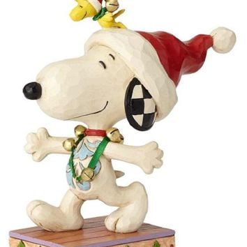 Jim Shore Peanuts Snoopy WS with Jingle Bells-6000985