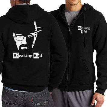 Hot Sale Breaking Bad Heisenberg Men Hoodies 2017 Spring Autumn Jackets Men Hooded Zip Up Men Coat Fashion Brand Clothing S-4XL