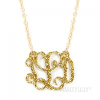 Acrylic Monogrammed Necklace | Marley Lilly