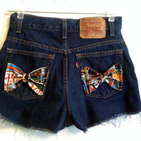 Star Wars bow High Waisted Shorts 27 inches