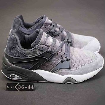 Puma Suedes Women Men Fashion Trending Casual Running Sports Sneakers Shoes Grey G-A-YYMY-XY