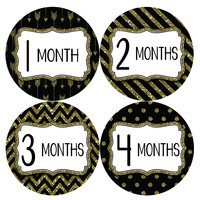 Baby Girl Monthly Milestone Baby Stickers Style #801