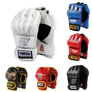 MMA Muay Thai Kick Boxing Gloves Half Fighting Boxing Gloves Competition Training Gloves guantes de boxeo