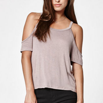 LA Hearts Relaxed Cold Shoulder Top at PacSun.com