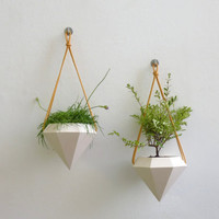 Diamond Hanging Planter - Pair