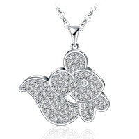 New Arrival Jewelry Gift Shiny Korean Stylish Accessory Lovely Animal Style Alloy Pendant Necklace [4918333764]