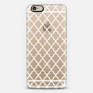 MAROCCO WHITE CRYSTAL CLEAR iPhone 6 case by Monika Strigel | Casetify