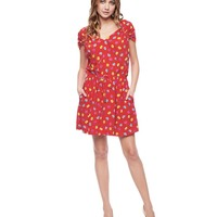 Darling Buds Washed Silk Dress by Juicy Couture