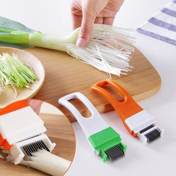 ICIK272 1pc Onion Vegetable Cutter slicer multi chopper Scallion Kitchen knife Shred Tools Slice Cutlery Cooking Tools