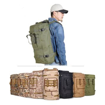 CAMTOA 60L Outdoor Tactical Military Shoulder Bag Trekking Camping Hiking Travel Rucksack Backpack Daypack