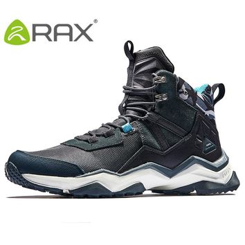 RAX 2017 Mens Waterproof Hiking Boots Outdoor Leather Hiking Shoes Climbing Breathable Trekking Shoes Mountain Boots Men Shoes