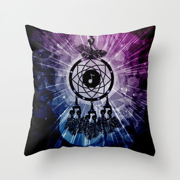 We are the Music Makers . . . Throw Pillow by Alohalani