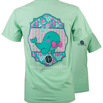 Southern Couture Preppy Walter the Whale Comfort Colors T-Shirt