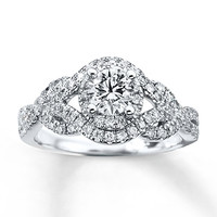 Diamond Engagement Ring 1 ct tw Round-cut 14K White Gold