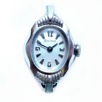 Vintage Bulova Swiss Watch, Movement Parts, Needs Band / Strap