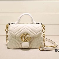 GUCCI Women Fashion Leather Tote Satchel Crossbody Shoulder Bag