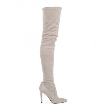 Classic Thigh High Boots Grey