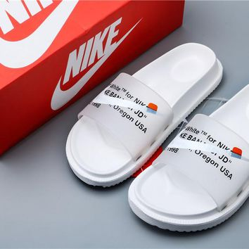 Off White x Nike Slipper Beach Shoes White Size 36-44