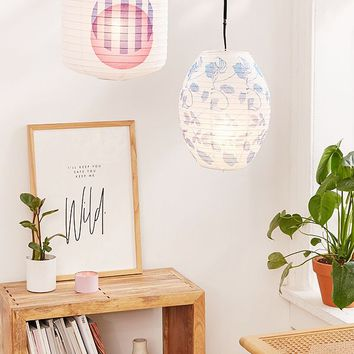 Printed Paper Lantern Pendant | Urban Outfitters