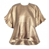Good Love Gold Leaf Top - Ready To Wear - The Latest