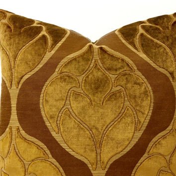 Brown Velvet Pillow Cover, Cinnamon Brown Cushions, Brown Velvet Covers, Cinnamon Velvet, 18X18 20X20 Brown Velvet Throw Pillows Case Covers