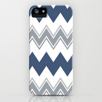 Navy Chevron Love iPhone & iPod Case by Pink Berry Pattern