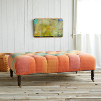 PARVATI UPHOLSTED OTTOMAN         -                  Sari Chairs & Benches         -                  One of a Kind         -                  Furniture & Decor                       | Robert Redford's Sundance Catalog