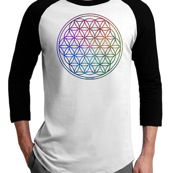 Flower of Life Circle Adult Raglan Shirt