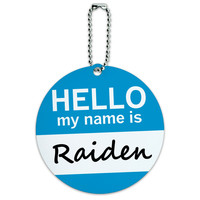 Raiden Hello My Name Is Round ID Card Luggage Tag